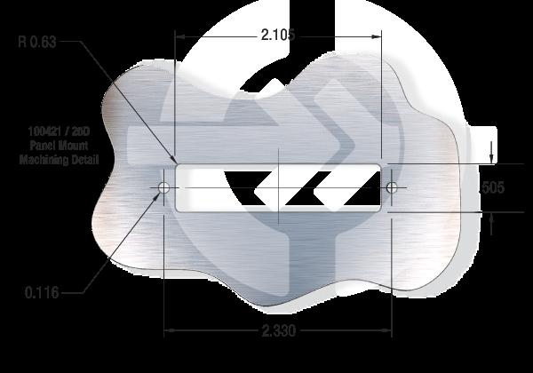 25D Subminiature-D Panel Mount Machining Detail