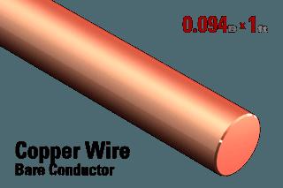 """0.094"""" OD Copper Conductor - Wire"""
