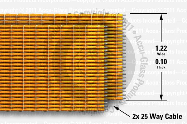 50 Way (25 Way x 2), Kapton Insulated Ribbon Cable