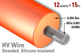 12 AWG - Stranded Core Wire - High Voltage