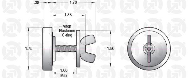 1.00 Baseplate Plug, Stainless Steel