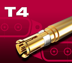 Type - T4  Coaxial vacuum pins and sockets