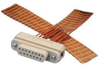 Connector to Cable -  15 Way Female (PEEK, Kapton)