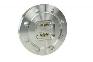 "15D-3CX2-450, 6-Coax Feedthroughs on a 4.50"" CF Flange"