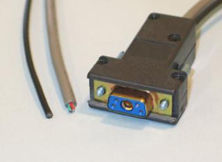 Sub D-Connector to Cable - 1-Coax, 4-Instrumentation - Female
