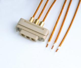 Connector to Cable - 3 Coaxial - Female