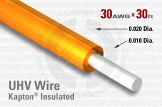 30 AWG - Solid Core Wire - Kapton Insulated