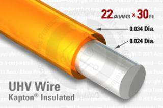 22 AWG - Solid Core Wire - Kapton Insulated