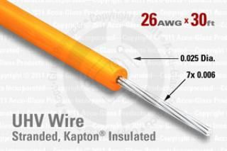 26 AWG - Stranded Core Wire, Kapton insulated