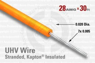28 AWG - Stranded Core Wire, Kapton Insulated