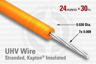 24 AWG - Stranded Core Wire - Kapton Insulated
