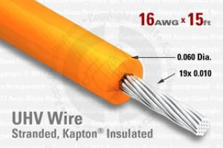 16 AWG - Stranded Core Wire - Kapton Insulated