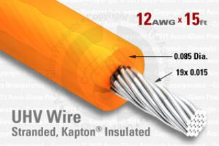 12 AWG - Stranded Core Wire - Kapton Insulated