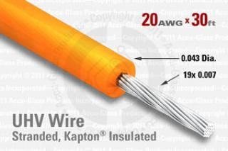 20 AWG - Stranded Core Wire, Kapton Insulated