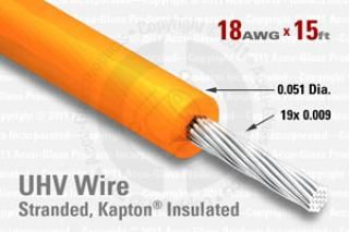 18 AWG - Stranded Core Wire, Kapton Insulated