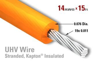 14 AWG - Stranded Core Wire - Kapton Insulated