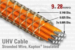 9 Way, Kapton Insulated - Round Cable