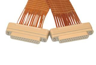 Connector to Connector Extension Cable - 25 Way Female - PEEK, Kapton