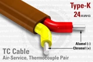 Air Service Type-K Thermocouple Cable