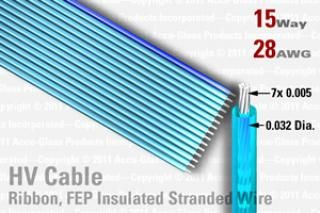 15 Way, FEP Extruded Insulated Ribbon Cable