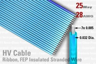 25 Way, FEP Extruded Insulated Ribbon Cable