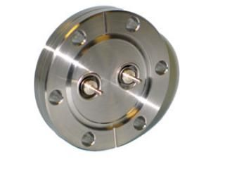 "BNC - Single Ended, Grounded Shield Feedthroughs x2 - 2.75"" CF Flange"