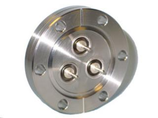 "BNC - Single Ended, Grounded Shield Feedthroughs x3 - 2.75"" CF Flange"