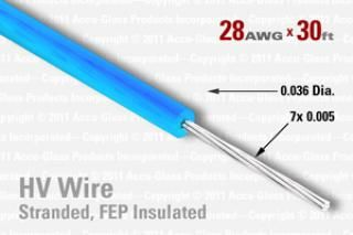 28 AWG - Stranded Core Wire - FEP Insulated