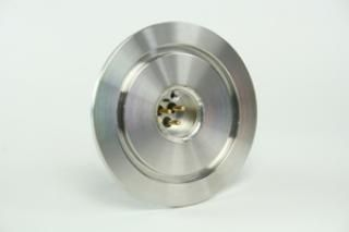 3CP-K40,  3 Pin Circular Feedthrough on a KF40 Flange
