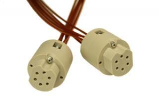 Connector to Connector Extension Cable - 6C- Female, PEEK Circular