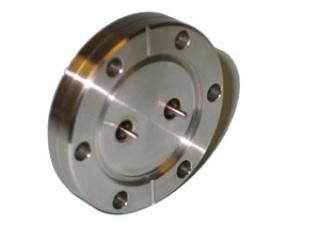 "SMA - Single Ended, Grounded Shield Feedthrough x2 on a 2.75"" CF Flange"