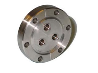 """SMA - Single Ended, Grounded Shield Feedthrough x3 on a 2.75"""" CF Flange"""