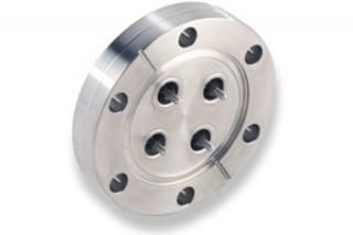 """SMA - Single Ended, Grounded Shield Feedthrough x4 on a 2.75"""" CF Flange"""