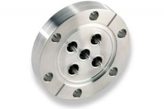 """SMA - Single Ended, Grounded Shield Feedthrough x5 on a 2.75"""" CF Flange"""
