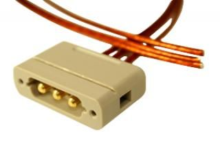 Connector to Cable - 3 Power - Male, PEEK Sub-D
