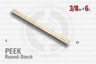 "PEEK Rod, 3/8"" OD by 6"" long"