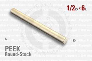 "PEEK Rod, 1/2"" OD by 6"" long"