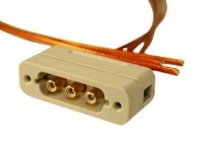 Connector to Cable - 3 Coaxial - Male