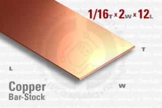 "OFE Copper Bar, 0.064""x2""x12"""