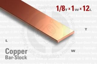 "OFE Copper Bar, 0.125""x1""x12"""