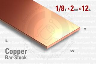 "OFE Copper Bar, 0.125""x2""x12"""
