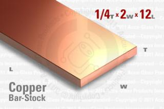 "OFE Copper Bar, 0.250""x2""x12"""