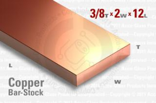 "OFE Copper Bar, 0.375""x2""x12"""