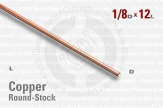 "OFE Copper Rod - 0.125"" OD, 12"" Long"
