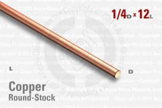 "OFE Copper Rod - 0.250"" OD, 12"" Long"