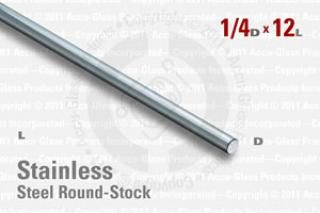 "Stainless Steel Rod, 0.250"" OD, 12"" Long"