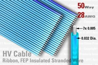50 Way (25 Way x 2), FEP Extruded Insulated Ribbon Cable