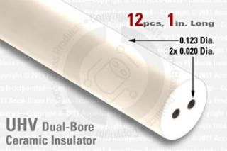 Ceramic Insulator 2 Hole design - 0.020