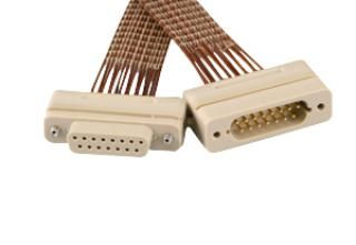 Connector to Connector Extension Cable - 15 Way Female/Male - PEEK, Kapton