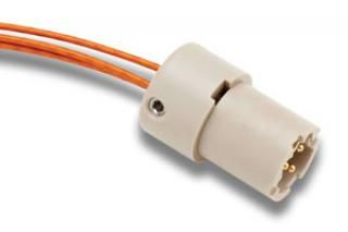 UHV Connector - 3C - Male with Strain Relief, PEEK Circular